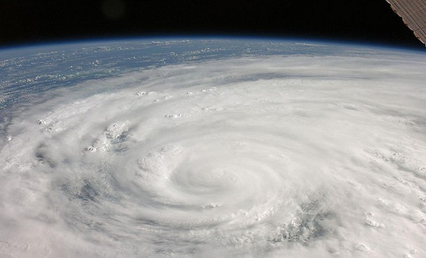 Hurrican Ike in 2008 makes landfall - photo courtesy of NASA