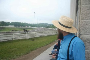 Amish racehorse buyer at track