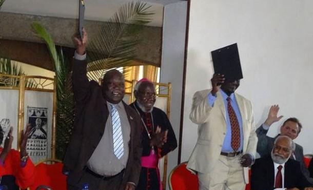 Hizkias at South Sudan peace