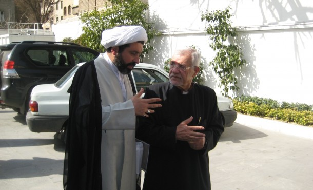 Shomali with Shomali with Amernian Orthodox Archbishop Sebouh Sarkissian in Tehran