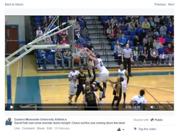 David Falk makes ESPN Sportscenter's Top-10 plays after a monstrous dunk during the 2013-14 season.