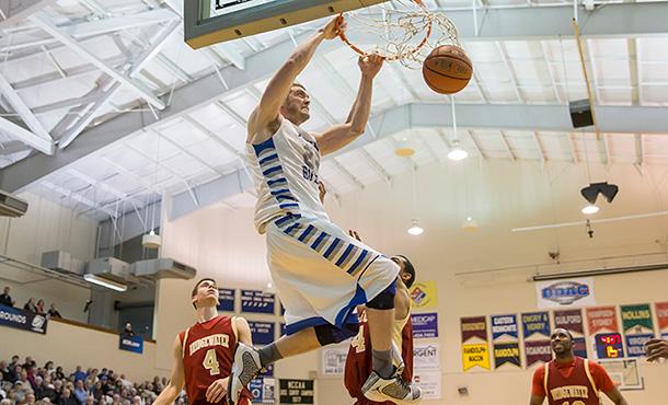 EMU Men's Basketball David Falk Dunks