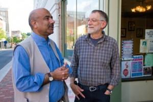 Ali Gohar and Howard Zehr in 2012 (Photo by Bonnie Lofton)