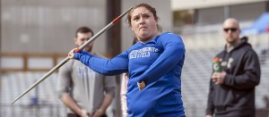 Becca Borg is No. 2 all-time in EMU's javelin record book. (Photo by Scott Eyre)