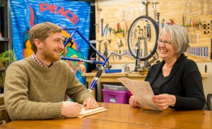 Ben Bailey and Deb King co-founded the (L)earn-a-Bike program, which teaches young offenders about bike mechanics. (Photo by Cody XX)