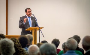 Dr. Abuelaish speaks during a community lecture.