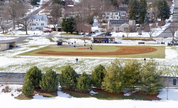 Snowy Baseball Practice-8752