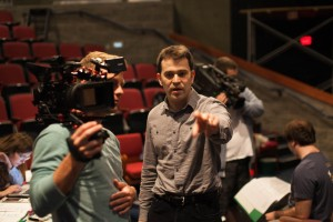 Director Justin Poole adapted 'Distant Witness' from Andy Carvin's book in a collaborative process with his classes over the course of 18 months.