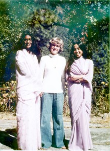 A 1978 photo taken at Woodstock School, the day before the Brenneman family moved back to the United States. Kim Brenneman is with close friends Anita Sundaram (on m right) and Shahnaz Kapadia (on my left, who is now deceased).