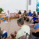 Professor Judy Mullet addresses educators in a workshop on peacebuilding at the Restorative Justice in Education Academy at Eastern Mennonite University June 27-28. (Photo by Andrew Strack)