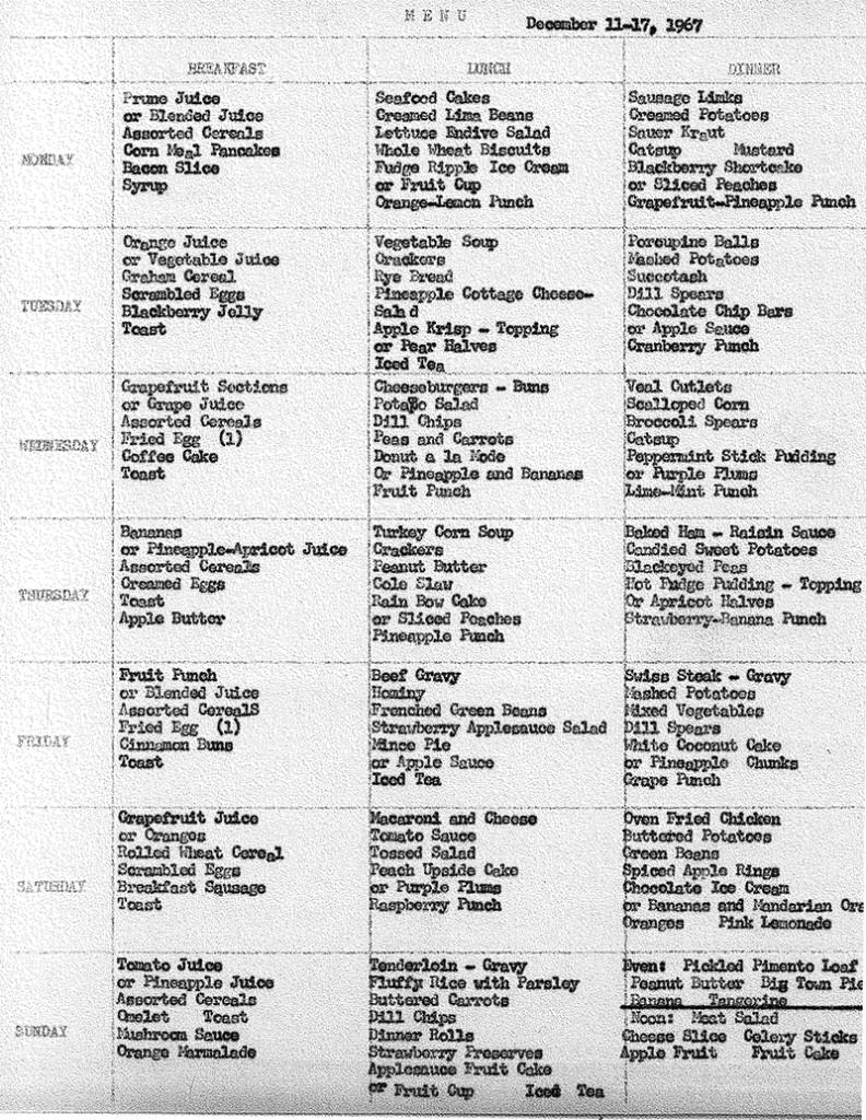 Dining Hall Menu '67 (1)