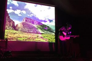 Performing at Big Bend National Park at the Rio Grande Amphitheater on Thanksgiving weekend. (Photo by Deborah Good)