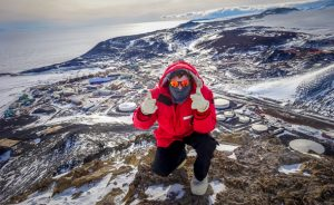 Eric King '14 in Antarctica. (Courtesy photo)
