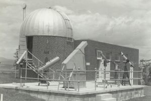 "The observatory with the ""Astral Hall"" 1955 addition, which eventually was used as WEMC's studios. The radio studio is still in use."