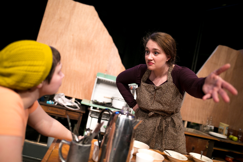 spitfire grill clara bush as hannah right and emma roth effy rehearse scene from emus spring musical the spitfire grill tells the story of
