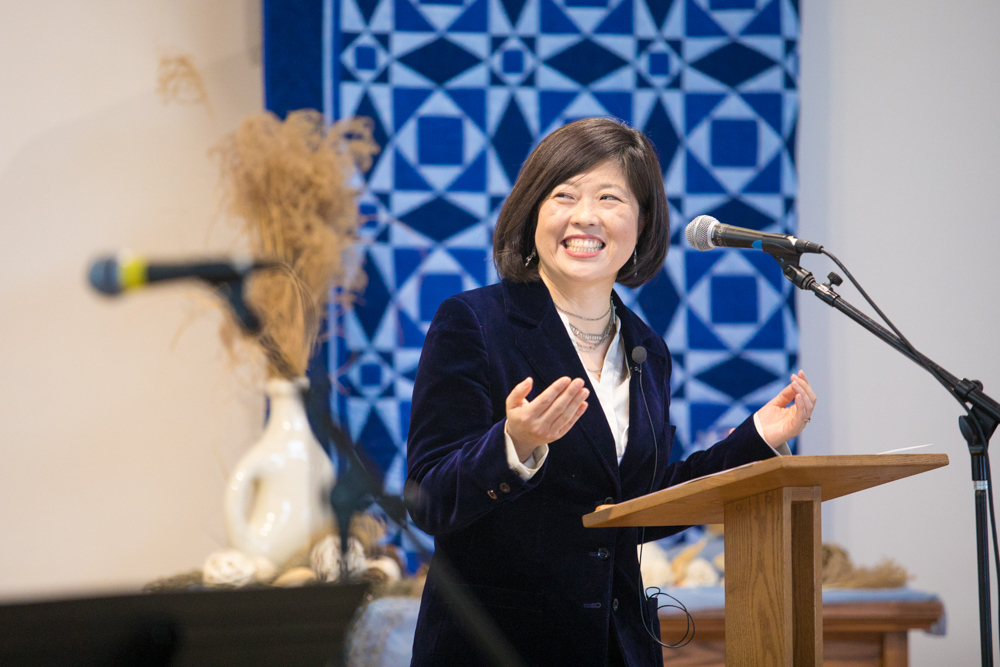 Sue Park-Hur, denominational minister for leadership development and transformative peacemaking for Mennonite Church USA, provided a keynote address and workshops during the Jan. 14-15 School for Leadership Training at Eastern Mennonite Seminary.