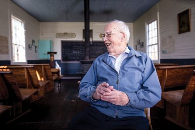 A distinguished educator: Harold D  Lehman '36 taught in one
