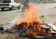 Burning furniture, Naivasha Town, Kenya