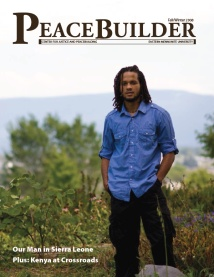Peacebuilder Magazine cover, Fall-winter 2008-'09