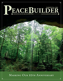 First issue of Peacebuilder, CJP alumni magazine