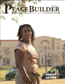 Peacebuilder Magazine cover, Fall-Winter 2009-'10