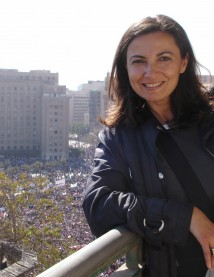 Jihan Al-Alaily in Tahrir Square, Feb. 2011