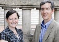 Rebecca Stone, MA '11, and Dave Saunier, MA '04, of Central Virginia Restorative Justice, headquartered in Charlottesville