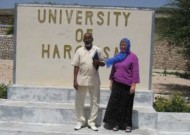 Jan Jenner, right, with Hargeisa dean Mohamed Aw-Dahir Abdi