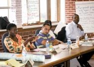 Peacebuilding leaders meet in 2004 at EMU