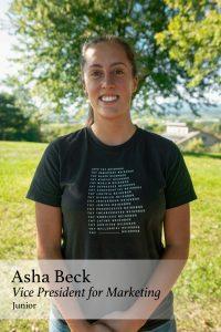 Asha Beck, Vice President for Marketing, Junior