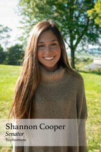 Shannon Cooper, Senator, Sophomore